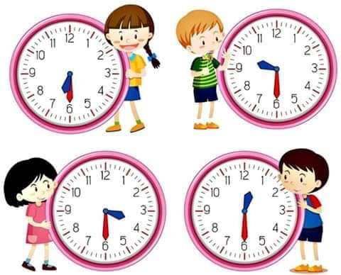 التدرب على قراءة الساعة + تمارين جميلة