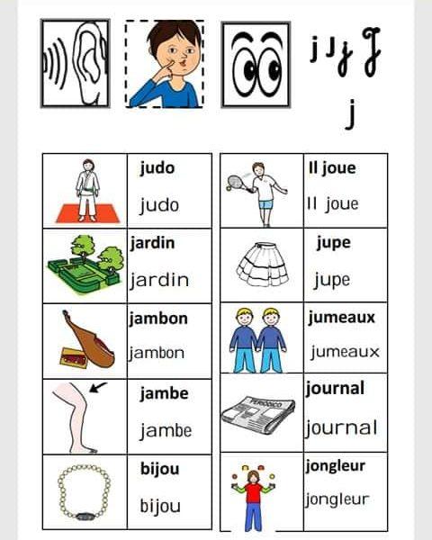 قاموس الكلمات و الأصوات باللغة الفرنسية سنة ثالثة و رابعة