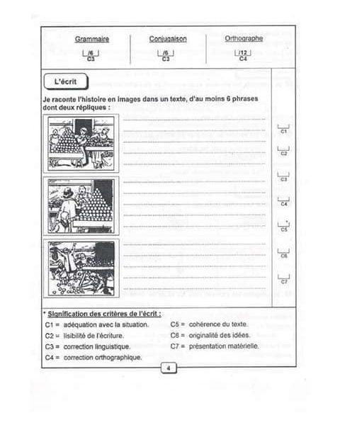 كتاب مراجعة في اللغة الفرنسية للسنة السادسة
