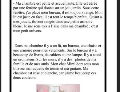 إنتاج كتابي في اللغة الفرنسية سنة 4 و 5 و 6