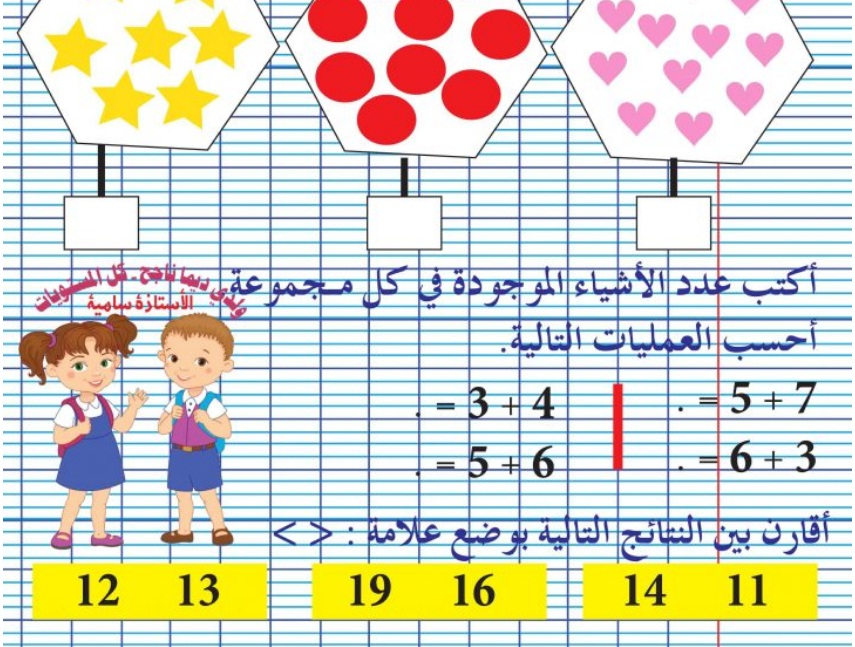مراجعة للثلاثي 2 :  رياضيات + إيقاظ علمي سنة 1 ـ إعداد الأستاذة سامية